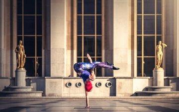 девушка, гимнастка, модель, фитнес, спортивная одежда, грация, тренировки, quincy azzario