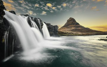 river, mountains, nature, waterfall, etienne ruff