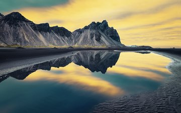 озеро, горы, отражение, пейзаж, etienne ruff