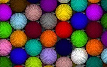 шары, разноцветные, шарики, мячики