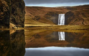 river, nature, waterfall, autumn, etienne ruff