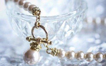 бусы, украшение, ожерелье, жемчуг, застёжка, аксессуар