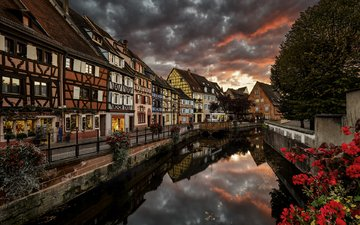 night, river, the city, france, colmar, etienne ruff