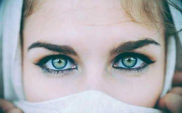 eyes, girl, look, face, amandine hannah