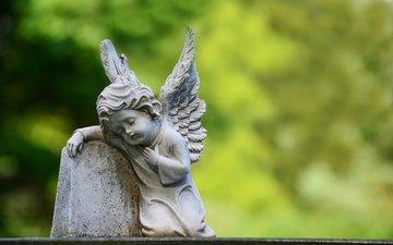 angel, sculpture, figure