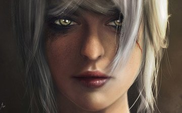 art, girl, fiction, look, the witcher, hair, face, cirilla fiona, helen rhiannon, the witcher 3:wild hunt