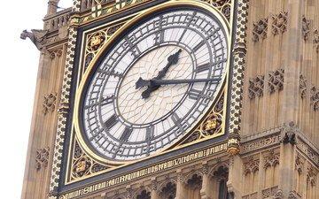 лондон, город, часы, башня, англия, архитектура, время, биг-бен