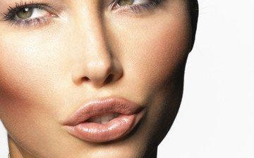 девушка, портрет, взгляд, губы, лицо, актриса, зеленые глаза, джессика бил