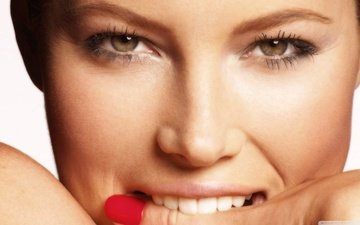 eyes, girl, finger, look, model, face, actress, teeth, lacquer, jessica biel