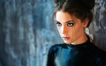 eyes, girl, portrait, model, face, makeup, photoshoot, long hair, kseniya kokoreva