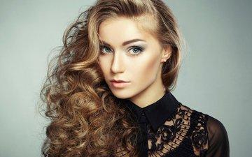 eyes, girl, background, portrait, look, model, face, makeup, hairstyle, photoshoot, long hair, arina postnikova