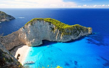 море, пляж, греция, бухта, 7