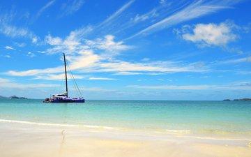 море, пляж, яхта, 17