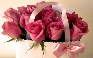 flowers, roses, bouquet, gift