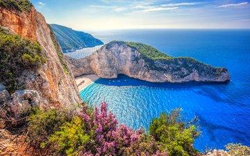 море, пляж, греция, бухта