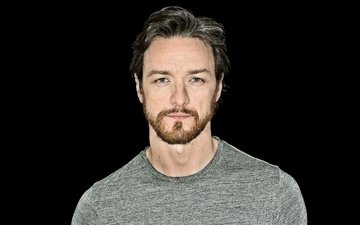look, actor, black background, james mcavoy