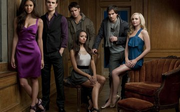 actors, the vampire diaries, nina dobrev, paul wesley, ian somerhalder