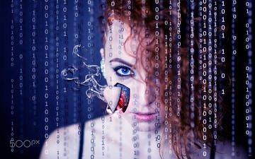 девушка, взгляд, робот, модель, волосы, лицо, анастасия, анастасия косуля, anastasia roedeer