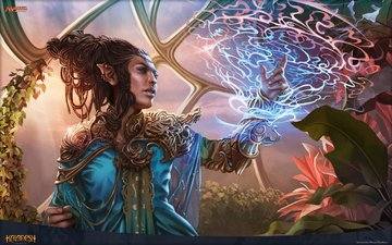art, magic, magic the gathering, mtg, magali villeneuve, rashmi, kaladesh