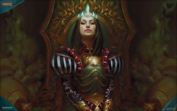 art, magic the gathering, mtg, queen marchesa, conspiracy take the crown, kieran yanner