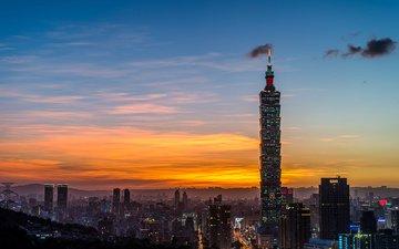башня, тайбэй, тайвань, китай