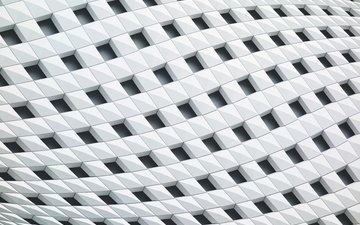 texture, pattern, white, squares, geometry, structure, forms