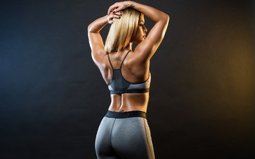блондинка, татуировки, фигура, тело, попка, спортсменка, фитнес, stephanie rao