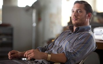 watch, chair, shirt, celebrity, bristles, tom hardy