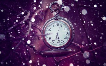 background, branches, watch, time, bokeh, pocket watch