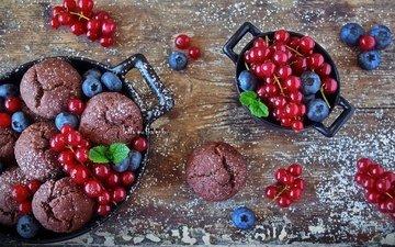 berries, blueberries, cakes, dessert, currants, cupcakes