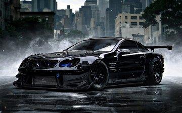 black, auto, power, rally, mercedes, bidos