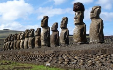 easter island, chile, idols, the moai statues