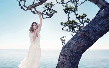 дерево, море, платье, модель, фотограф, фотосессия, здоровье, эшли бенсон, james white