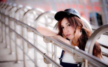girl, look, hair, face, cutie, asian, cap