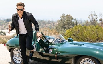 road, the sun, nature, glasses, auto, shoes, jacket, photoshoot, in black, keys, pants, chris pine