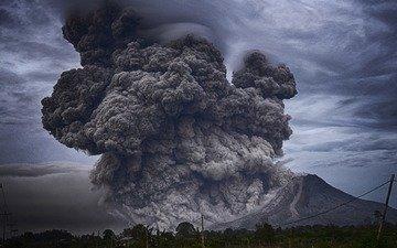 дым, извержение, вулкан, вулкан этна, этна