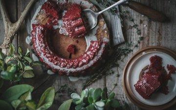 зелень, еда, сладкое, выпечка, десерт, пирог, крем