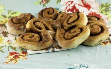 cinnamon, food, cakes, buns, muffin