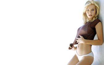 фон, блондинка, взгляд, трусики, актриса, элиша катберт