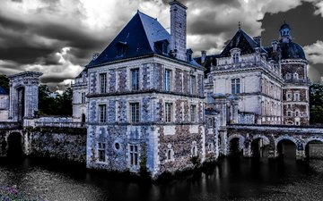 замок, франция, сен-жорж-сюр-луар, замок серран, chateau de serrant