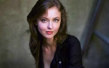eyes, girl, smile, look, hair, face, actress, katherine isabelle