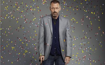 actor, costume, hugh laurie, dr. house, beard, pills