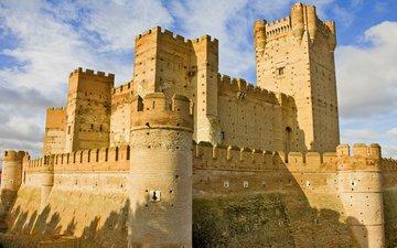 castle, spain, castillo de la mota, the castle of la mota