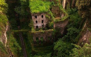 руины, мельница, италия, заброшенный, сорренто, валле деи моллини, собко владимир