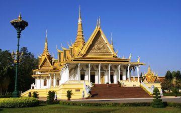дворец, камбоджа, королевский дворец, пномпень