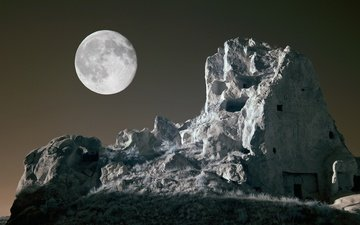 stones, rock, the moon, cappadocia, grachev oleg