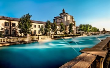 channel, usa, the building, fountains, the hotel, villa, the parapet, kansas city, missouri