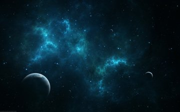 space, stars, planet, nebula, matter