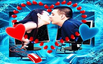 любовь, интернет, поцелуй, расстояние