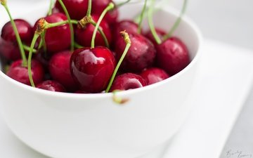 macro, cherry, berries